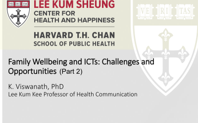 Family Well-being and ICTs (2) – Challenges and Opportunities